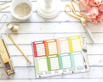 Blank Stackable Sidebar Stickers || 20 Planner Stickers || Erin Condren Life Planner (Vertical Layout)