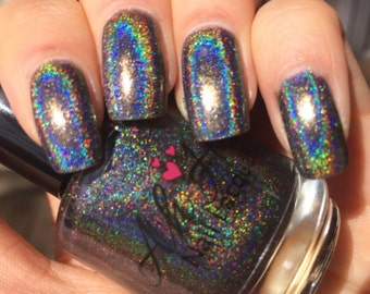 Midnight Madness Linear Holographic Polish