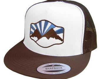 Idaho Mountain Trucker Hat -BANANA ink