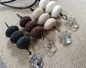 Paws, EO Necklaces, Essential oil diffuser necklaces, Personal Diffuser, Aromatherapy Jewelry.