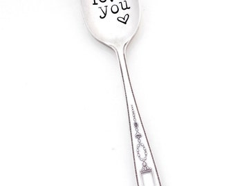 I LOVE YOU Stamped Spoon. The Original Hand Stamped Vintage Coffee Spoons™ by Sycamore Hill. HandstampedTeaspoon. Gift for Coffee, Tea Lover