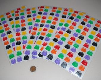 Mrs. Grossman's Vintage Gumdrop Candy Sticker Stickers Lot of 360 from 1986