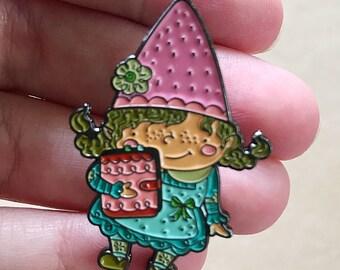 Planner Girl Gnaomi the Gnome, Enamel Pin, Plantasia Friends, Planner Girl Pin, Plantasia Pin