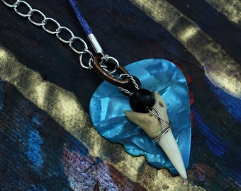Guitar Pick Necklace - Shark-tooth