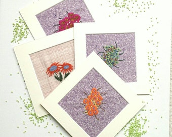 Flowers, Embroidery Art, Wall Decoration,  Hand Embroidery, Floral Embroidery, Wall Art