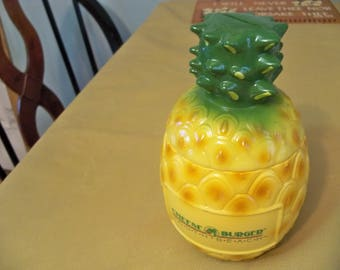 pineapple plastic bank tiki parrot head drink multi purpose