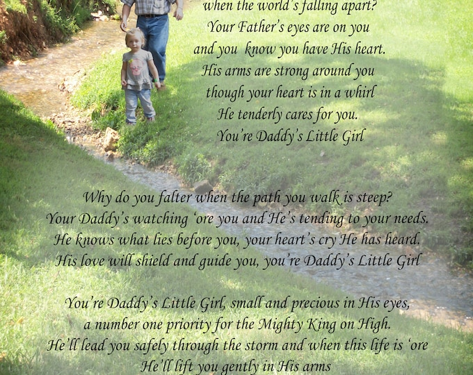 "Poem, ""Daddy's Little Girl"" an original poem on an original photograph"