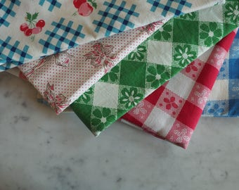 Vintage Feed Sack Fabric