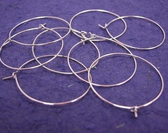 12pc nickel plated hoop earrings-1064