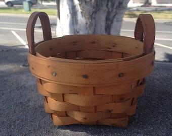 On Sale Longaberger Collector Handmade Basket Small Longaberger Basket