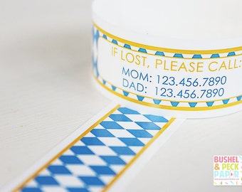 Custom Vinyl Oktoberfest ID Bracelets - Personalized ID Bands - #Kids #Travel #Safety