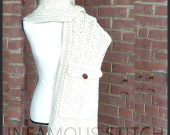 Cabled Pocket Scarf Pattern