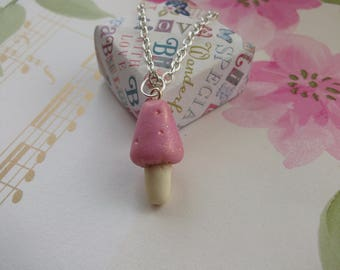 Fairy Toadstool Pendant Necklace