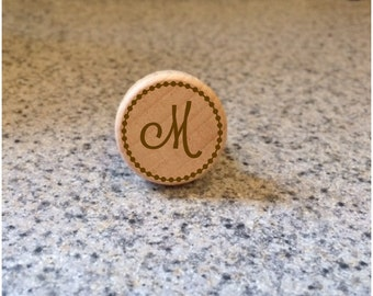 Engraved Wood Wine Stopper, wooden wine stopper, Last Name Initial, Wedding, Bridal Shower, engraved wine stopper, wood bottle stoppers