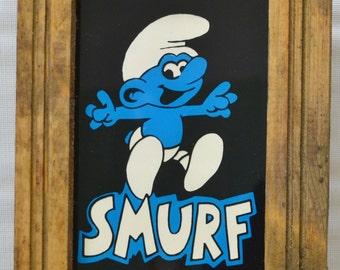 Vintage Smurf Picture - Mirror Art