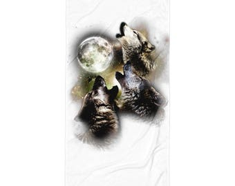 Wolves Howling At The Moon Gift Towel