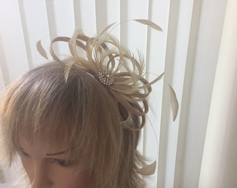 Caramel   sinamay fascinator, hair accessories, can be custom made to match your outfit