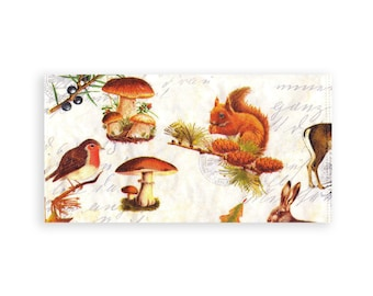 Paper napkin for decoupage, mixed media, collage, scrapbooking x 1. Forest Animals . No 1205