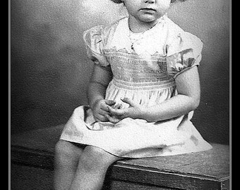 Vintage Photo Young Girl Portrait