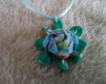 """""""Lotus"""" real origami pendant"""