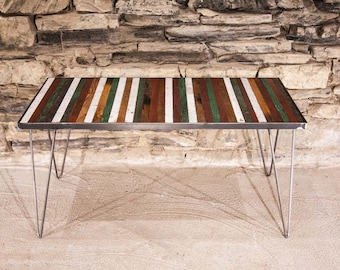 Free Shipping! Sao Paulo Coffee Table - Reclaimed Wood and Mid Century Modern Hairpin Legs