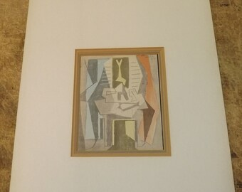 Picasso - Table Before Window - Hand Colored Limited Edition Lithograph