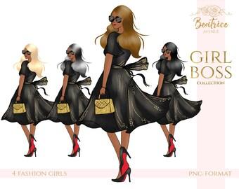 African American clipart girl boss clipart fashion clipart fashion illustration planner girl clipart fashion girl clipart planner stickers