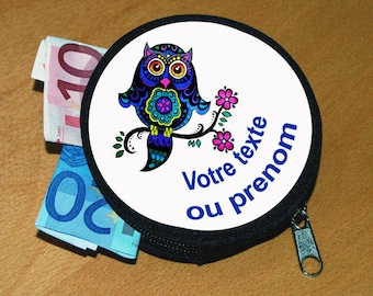 Wallet OWL personalized name or text