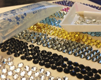 Swarovski Crystals Flatback Non-Hotfix - SS5 to SS20 - 144pcs to Wholesale