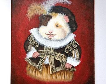 William Haykespeare - 8x10 Original guinea pig painting