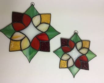 Suzanna Flower Stained Glass Suncatcher G-11
