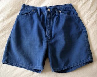 Indigo High Waisted Wrangler Shorts