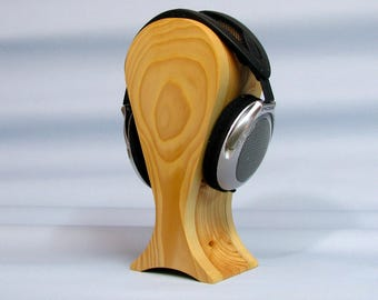 Stand for headphones from wood spruce and larch extra large size