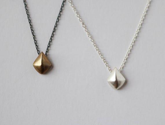 Tiny Shield Necklace   handmade jewelry