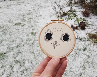 Owlet embroidery