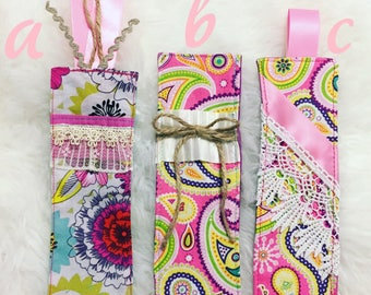 Fabric bookmarks
