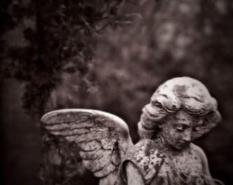 25% Memorial Day Sale still life photography guardian angel fine art photography statue cemetery gallery wrap home decor nursery decor
