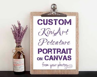 Custom Canvas PAINTING LG KiniArt Pet Portrait Art