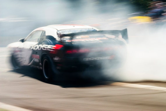 SMOKIN ! Motor Racing, Racing Car, Motorsport Print, Photographic print, Car Racing Print