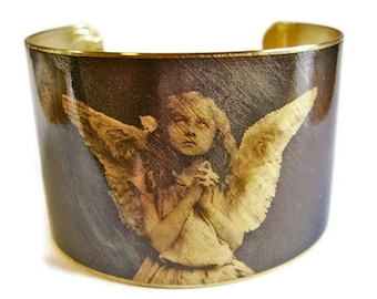 Angel Girl brass cuff bracelet Free Shipping to USA Gifts for her