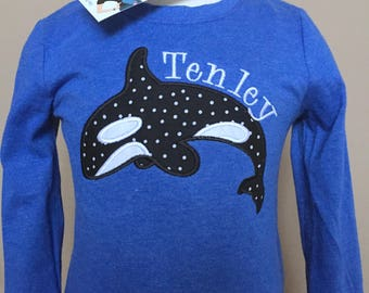 Personalized Whale shirt
