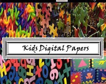 Toys Digital Papers - Toy Party Digital Papers - Invitation - Background - Birthday