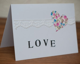 LOVE Wedding Card (or Anniversary) **SALE**