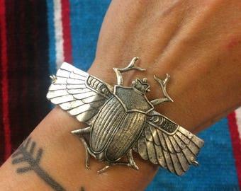 Scarab Cuff Bracelet by Hello Stranger // adjustable size
