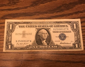 1957 Silver Certificate One Dollar