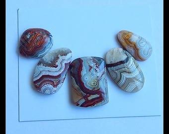 SALE,5 PCS Crazy Lace Rosetta Stone Gemstone Cabochons,11.8g (Cb172)