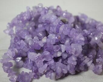 Genuine Lavender Amethyst Chip Beads (72 Pieces)