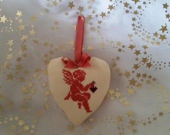 "Coastal style Embroidered handmade ""Ange rose etndre"" handmade"