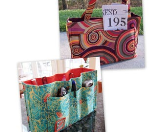 Two Purse Sewing Patterns 20% off Organizer and Zippered or Reversible Tote (2 sizes)