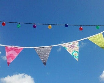 Fabric Bunting, Party Decor, Custom Long Banner, Garland, Festive Flags, Party decorations, Wall Hanging, Reusable Party Decor, Weddings